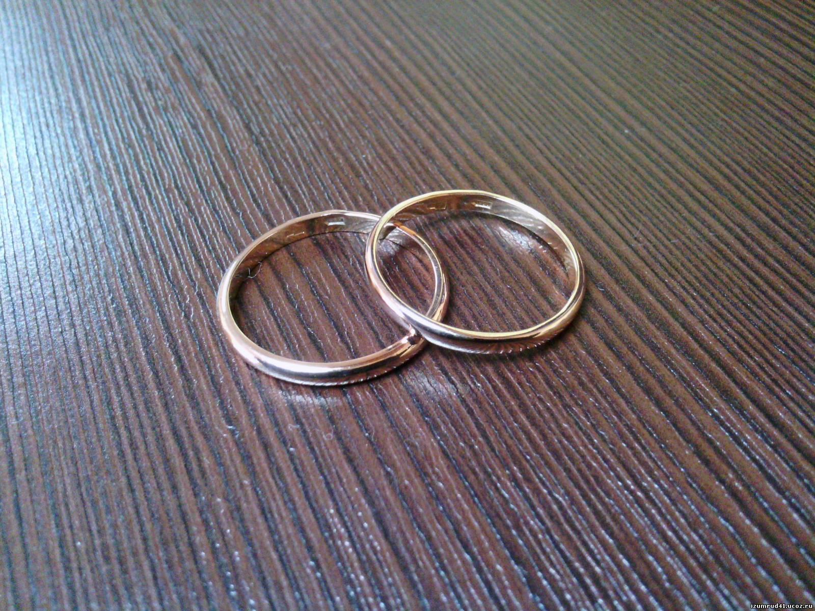 Обручальные кольца парные фото 8